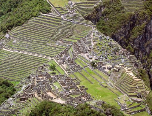 Irrigated terrace farms of the ancient mayan city machu for What is terrace farming definition